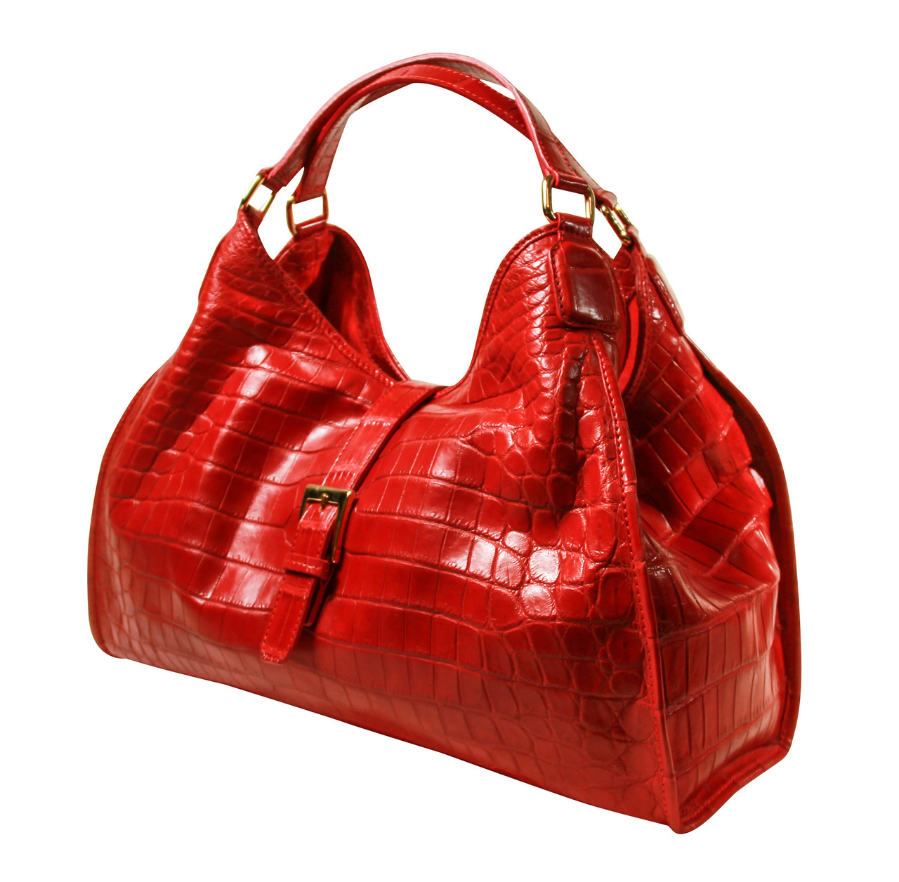 Colette 14' (Tucked Gussets) - Red Crocodile