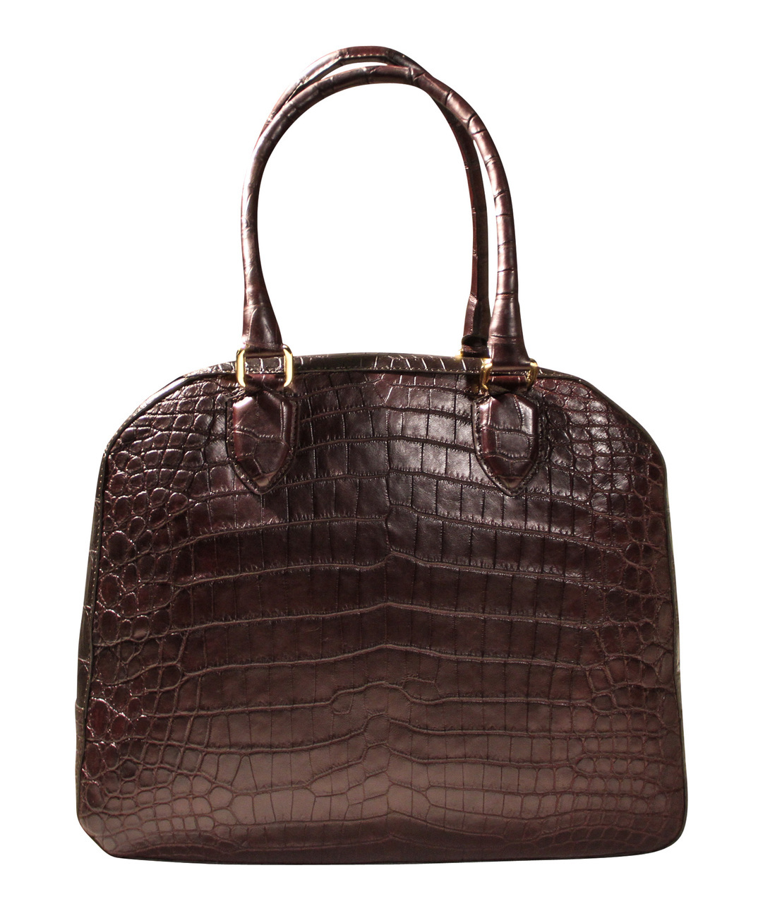 Wide Body Bowling Bag - Dark Brown Crocodile