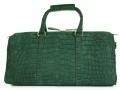 Aino Petite - Duffel Bag in Nile Crocodile - Suede Green