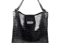 Rainier - Crocodile Belly Tote - Charcoal Grey