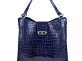 Rainier - Nile Crocodile Belly Tote - Dark Blue