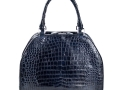 Rosa - Nile Crocodile Belly Satchel Bag - Blue