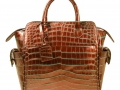 Trapeze Leveler - Nile Crocodile Satchel Bag - Two Tone Bronze