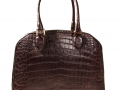 Wide Body Bowling Bag - Dark Brown Crocodile