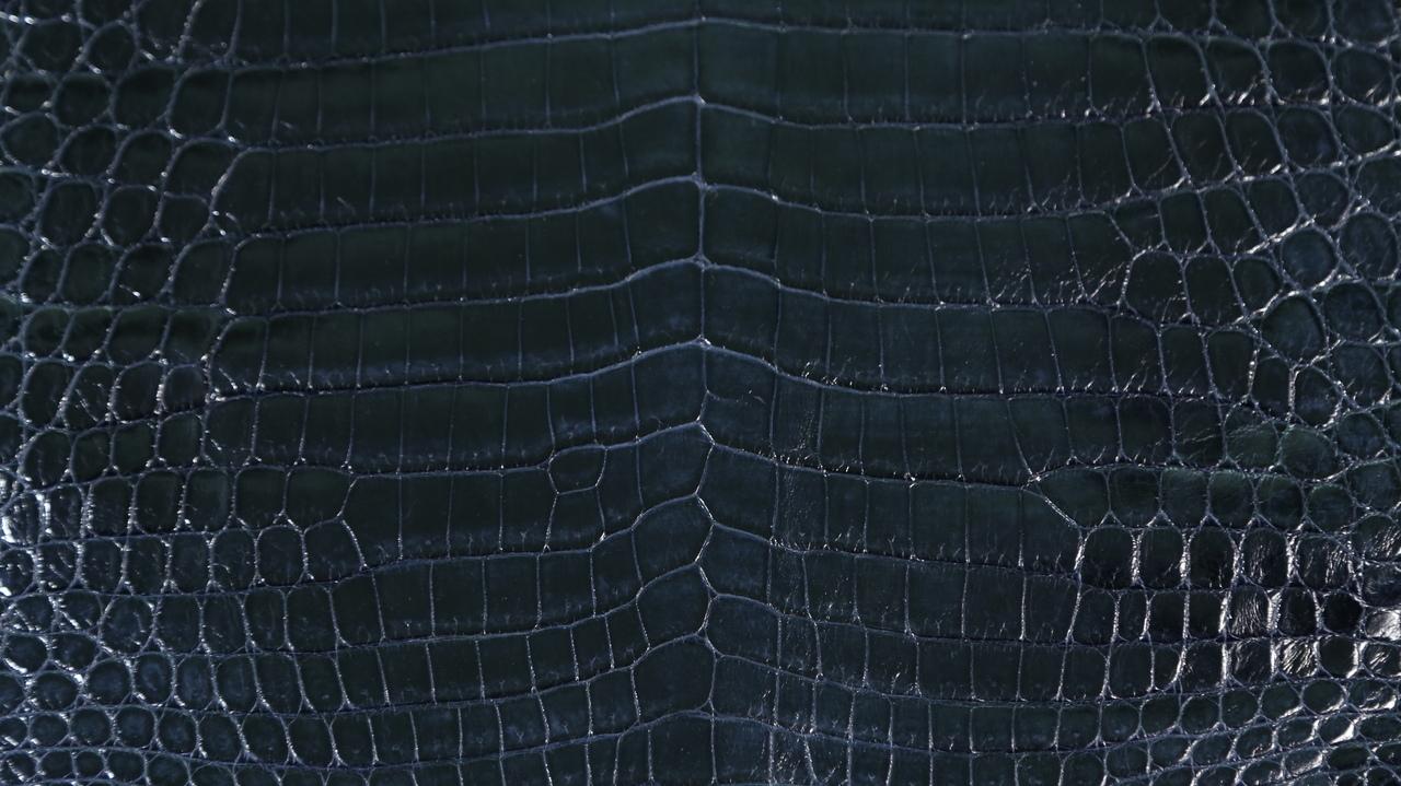 Nile Crocodile - Glazed - Navy Blue