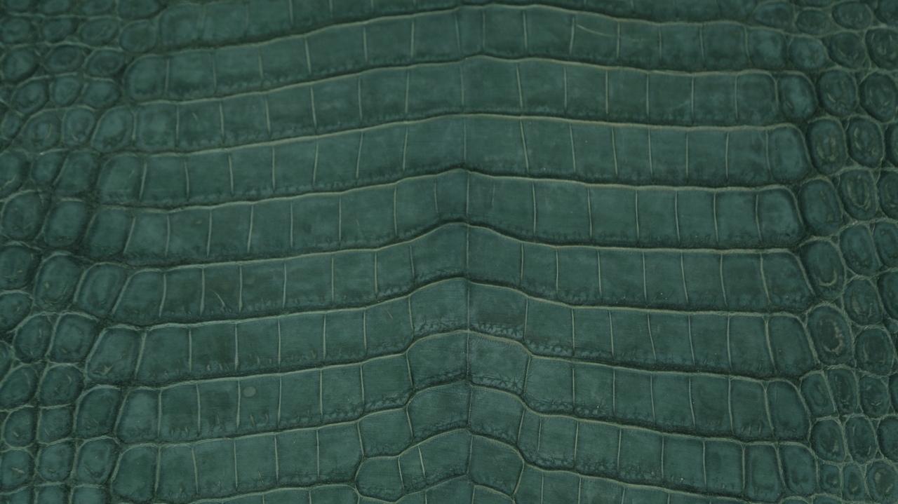 Nile Crocodile - Suede Nubuck - Emerald Green