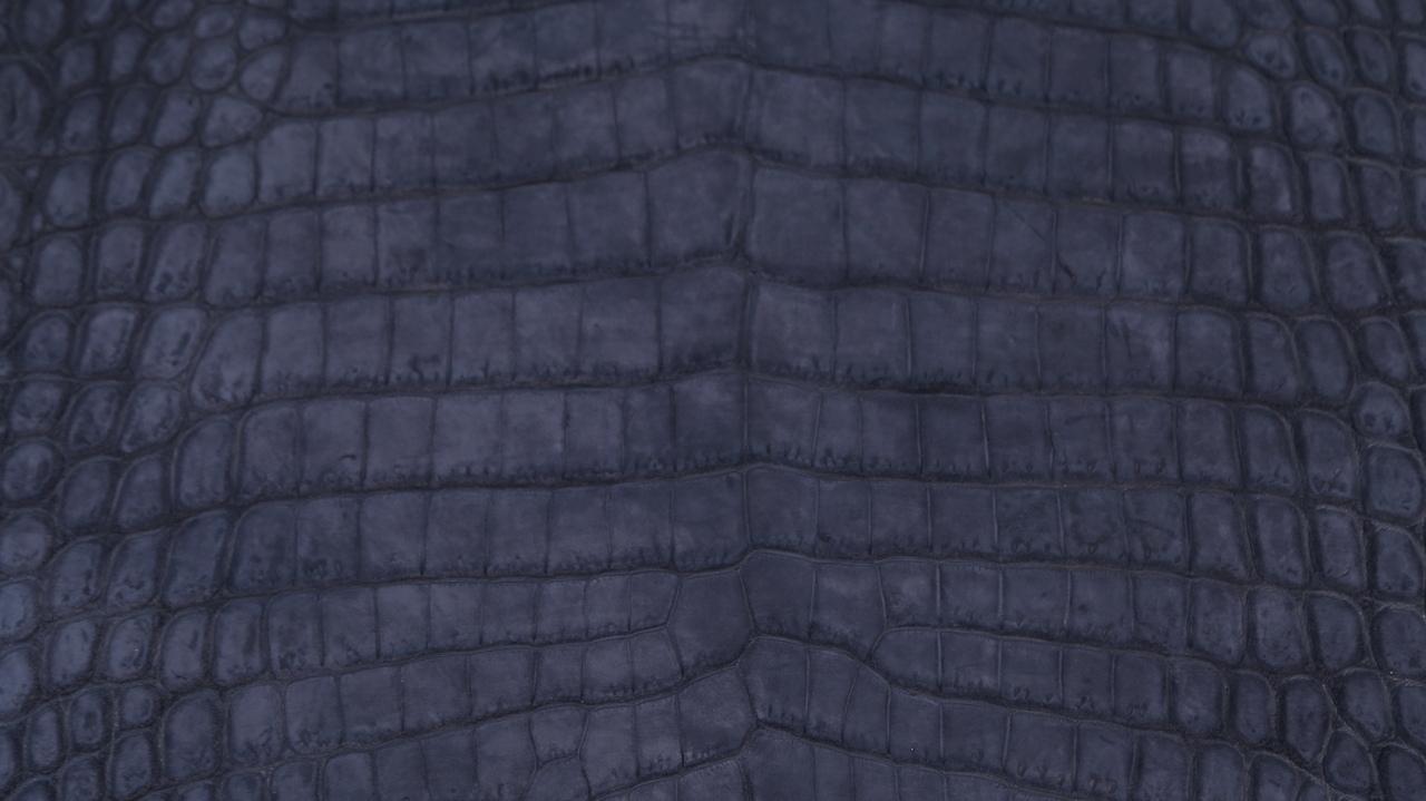 Nile Crocodile - Suede Nubuck - Light Navy Blue