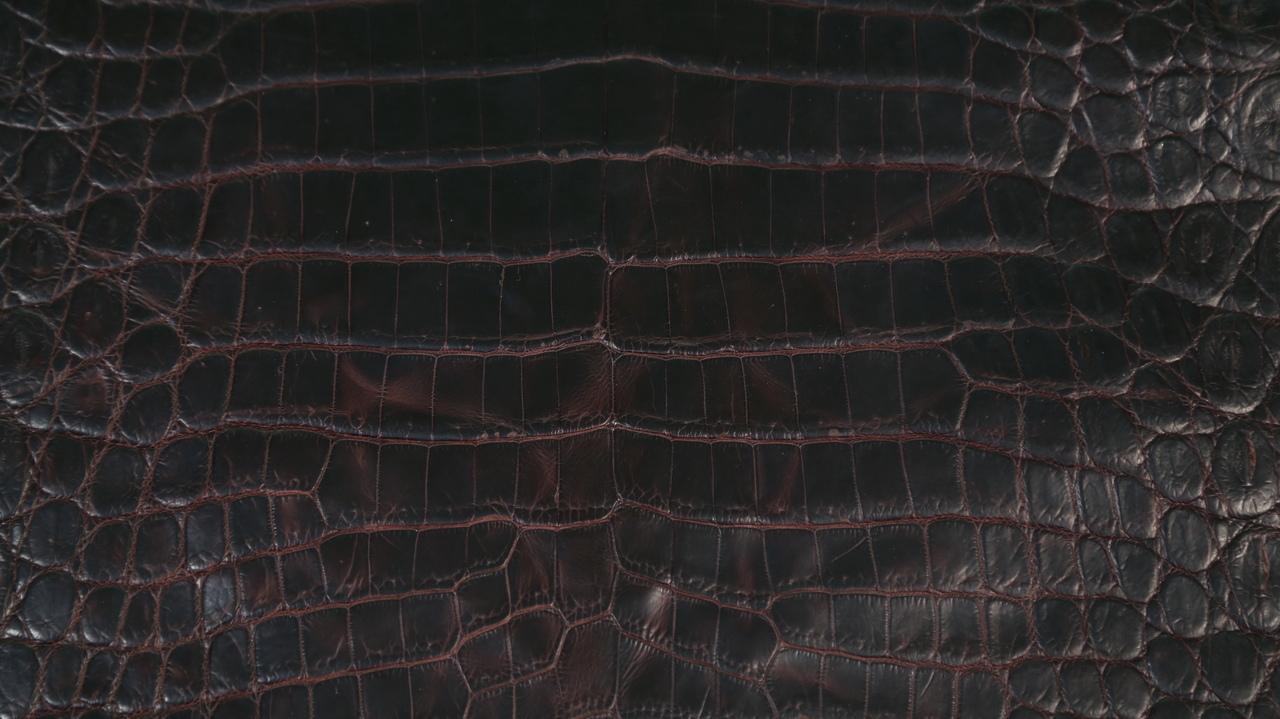 Nile Crocodile - Oily Pull Up - Matte - Dark Brown