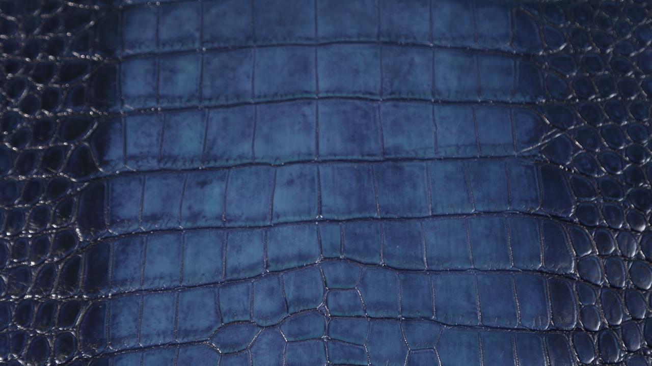 Freshwater Crocodile - Matte Waxy - Navy Blue - Ombré